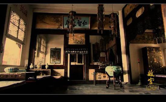 未开启照明时拍摄的西次间与西暖阁内景,所有陈设都略显晦暗。
