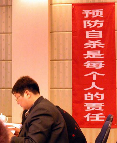 北京心理危机研究与干预中心中外专家学术研讨会现场。视觉中国供图(资料图片)