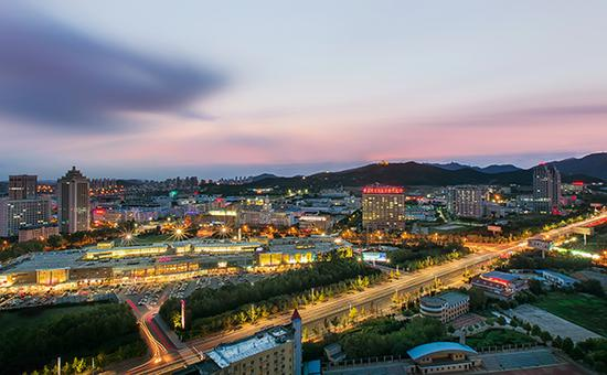 山东省烟台市城市风光 视觉中国 图