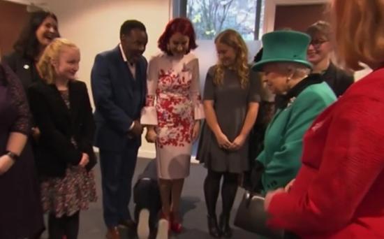 视频:小男孩见英国女王 因太害羞学老鼠爬出门