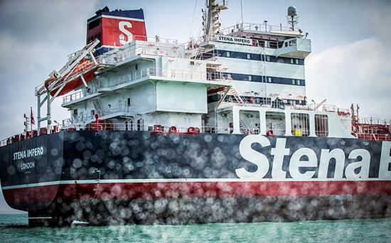"""英国油轮""""史丹纳帝国""""号。视觉中国 材料图"""