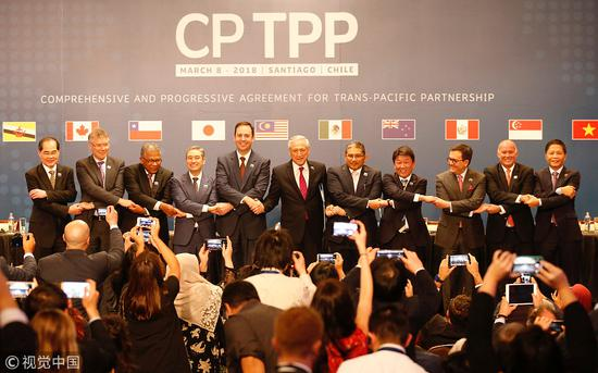 3月8日,11国签署CFTPP。(图源:视觉中国)