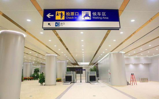京雄乡际铁路(北京段)站内唆使牌。图/北京铁路局