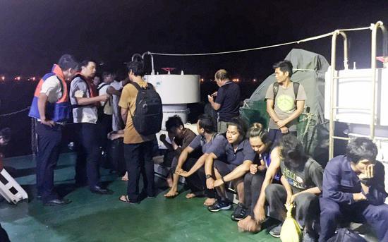 脱险船舶上的14名海员全数得救。船山海事局供图