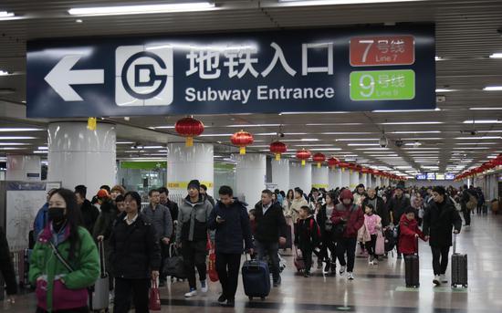 1月10日,北京西站地区起实现铁路、地铁安检互认。新京报记者 王嘉宁 摄