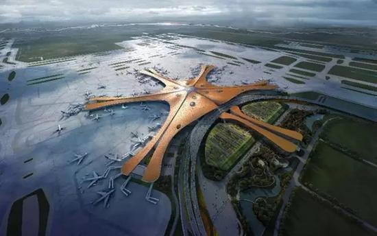 新机场建成后效果图 北京日报微信公众号 图