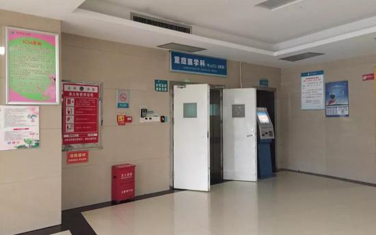 6月3日,永州市中心医院重症监护病房。新京报记者陶若谷摄