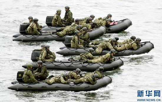 ▲资料图片:日本陆上自卫队进行训练。