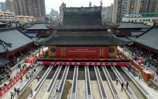 上海玉佛禅寺修缮新真人游戏娱乐进展:完成新建观音殿和钟鼓楼