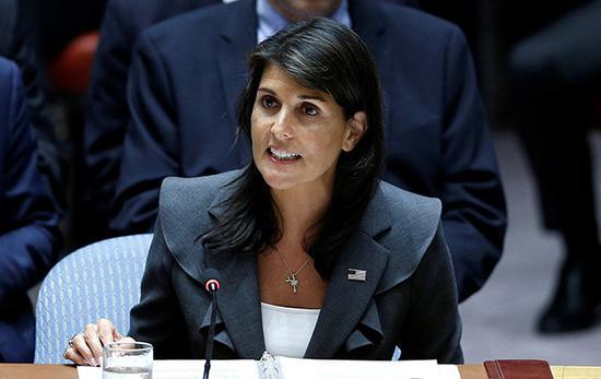 美国常驻联合国代表黑莉。 视觉中国 图