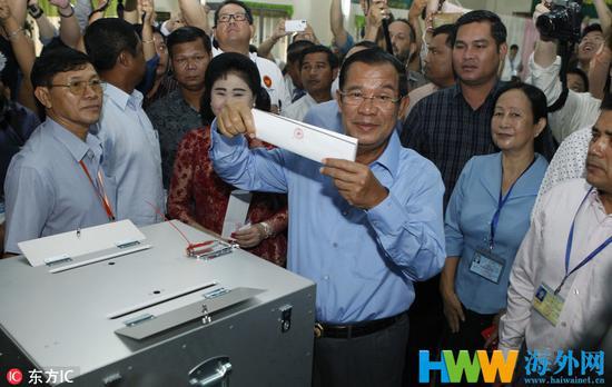 图为柬埔寨现任首相洪森。(图源:东方IC)