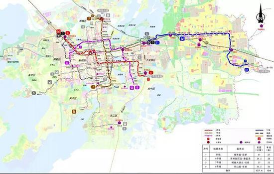 苏州市城市轨道交通第三期建设规划(2018~2023 年)示意图,图中蓝线为S1线 。