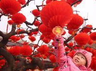 北京地坛公园年味渐浓