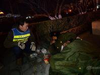 北京确定142个点位巡查 寒夜救助流浪乞讨人员