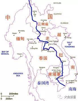 澜沧江-湄公河流域图