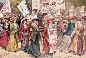 ▲前期女权行动画作。 图片来源:视觉我国