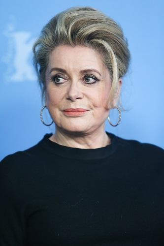 资料图片:法国女演员凯瑟琳·德纳芙。(新华社记者张帆摄)
