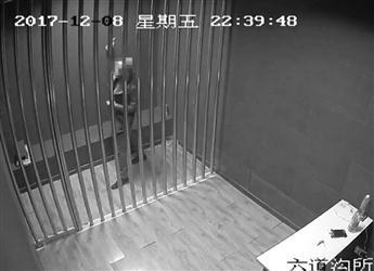 警方微博发的毒驾男子跳舞。 视频截图
