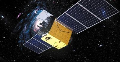 """""""慧眼""""天文卫星示意图。 国家航天局提供"""