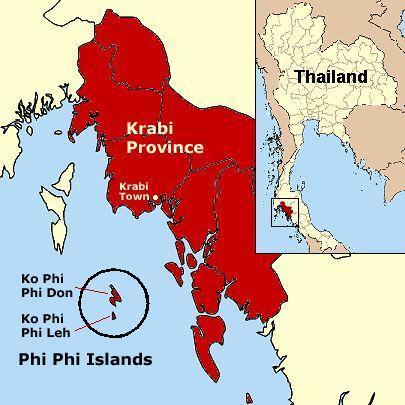 ▲皮皮岛地理位置示意,圆圈内岛屿构成皮皮岛(图片来源:维基百科共享页面)
