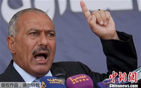 资料图:也门前总统萨利赫