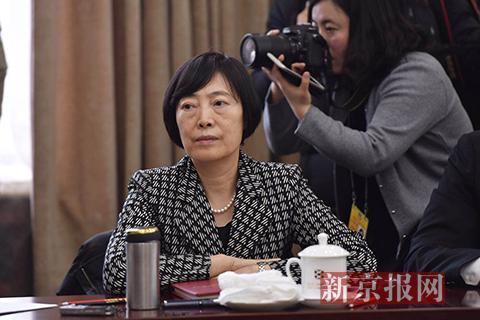 全国政协委员、中国进出口银行党委书记、董事长胡晓炼。新京报记者 陶冉 摄