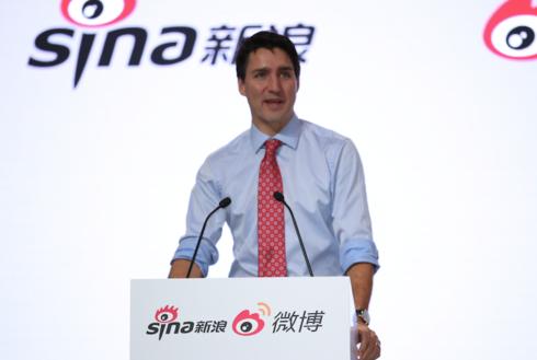 加拿大总理特鲁多访问新浪致辞演讲(字幕版)
