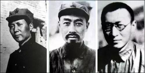 """""""三人小组""""成员:毛泽东、周恩来、王稼祥"""