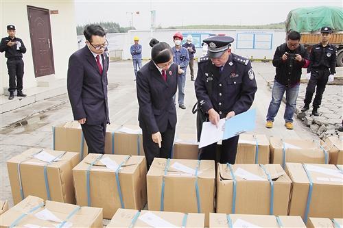 案值近4000万元的毒品被集中销毁。 本文图片 南宁晚报