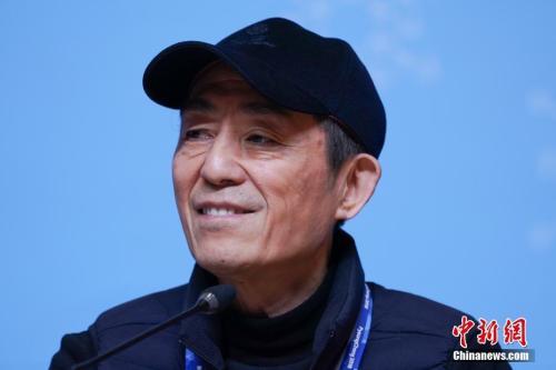 张艺谋在发布会上 中新社记者 崔楠 摄