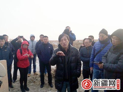 北京大学考古文博学校教授林梅村介绍轮台县奎玉克协海尔古城探究情况