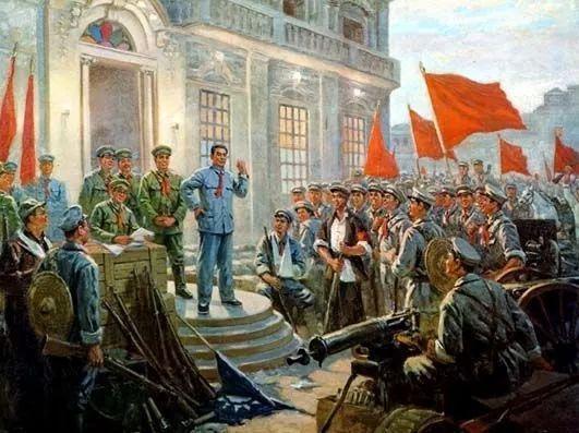 油画《南昌起义》