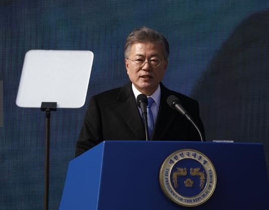 韩国总统文在寅(图来自日本《每日新闻》)