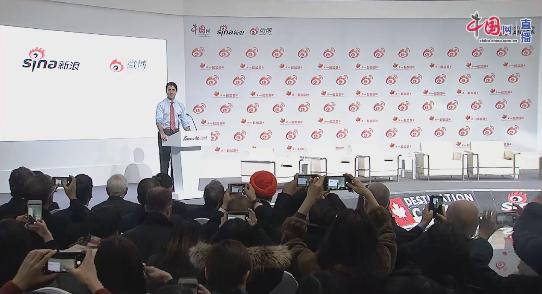 Canada PM Justin Trudeau visits Sina