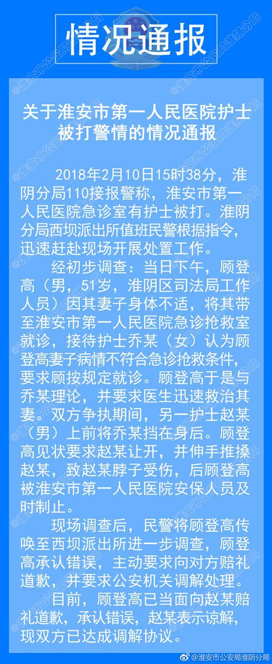 情况通报 微博@淮安市公安局淮阴分局 图