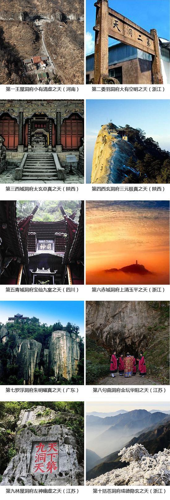 中国十大洞天(图片来源:网络)