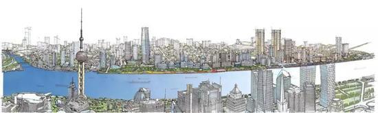 北外滩核心区规划手绘图