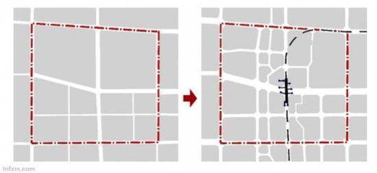 《导则》建议,在轨道影响区内,支路网密度原则上应达到6-8km/km2以上。(《城市轨道沿线地区规划设计导则》截图/图)