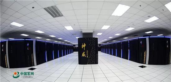 """这是安装在国家超级计算无锡中心的""""神威・太湖之光""""超级计算机(2016年6月20日摄)。"""