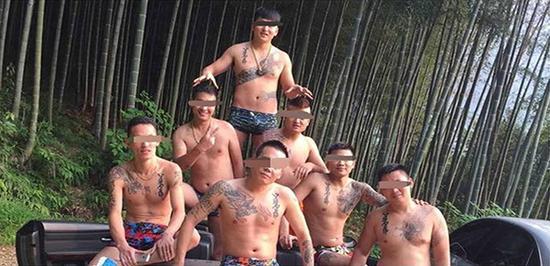 部分团伙成员照片 金华市公安局江南分局 图