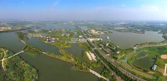 江苏徐州,潘安湖风光。视觉中国 资料图