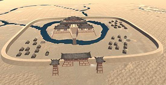 奎玉克协海尔古城的模拟复原图 中国科学院 图