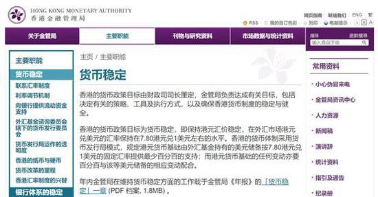 ▲图片来源:香港金管局官网
