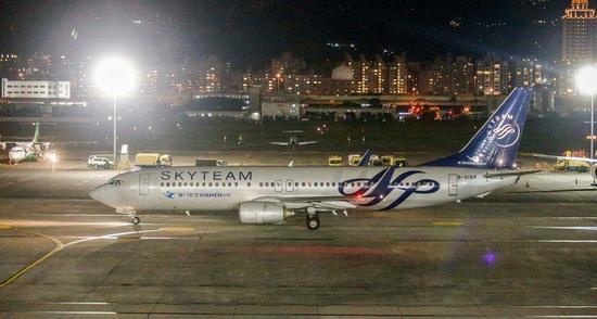 图为厦门航空班机。(台媒资料图)