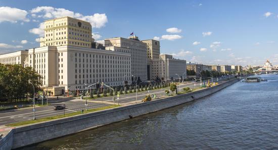 图为俄罗斯国防部。(图片来源:俄罗斯卫星网)