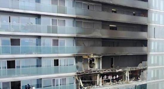 失火公寓。资料图