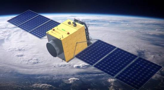 HXMT卫星运行示意图
