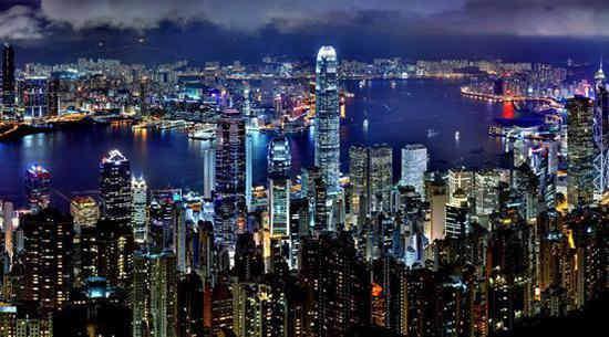 ▲香港夜景 圖片來源:攝圖網