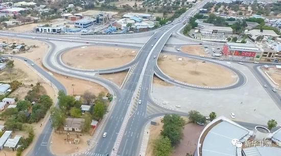 Tonota-Francistown A1道路和Thapama立交桥。(项目方供图)