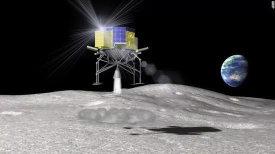 ▲日本月球调查智能着陆器概念图(日本宇宙航空研究开发机构)